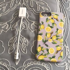 iPhone case + insignia cable hdmi to mac laptop